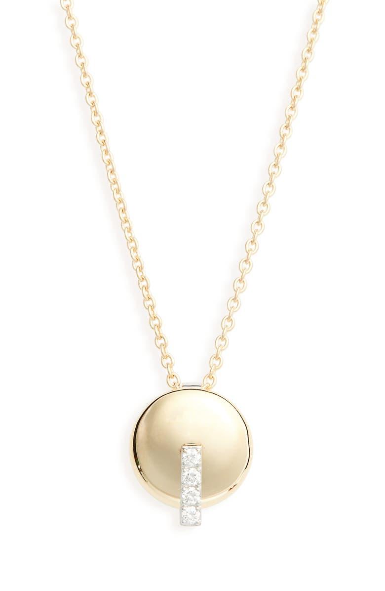 ROBERTO COIN Diamond Pendant Necklace, Main, color, D0.08 18KYW
