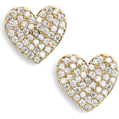 Kate Spade New York Yours Truly Pave Heart Stud Earrings
