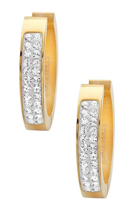 Image of HMY Jewelry Crystal Hoop Earrings