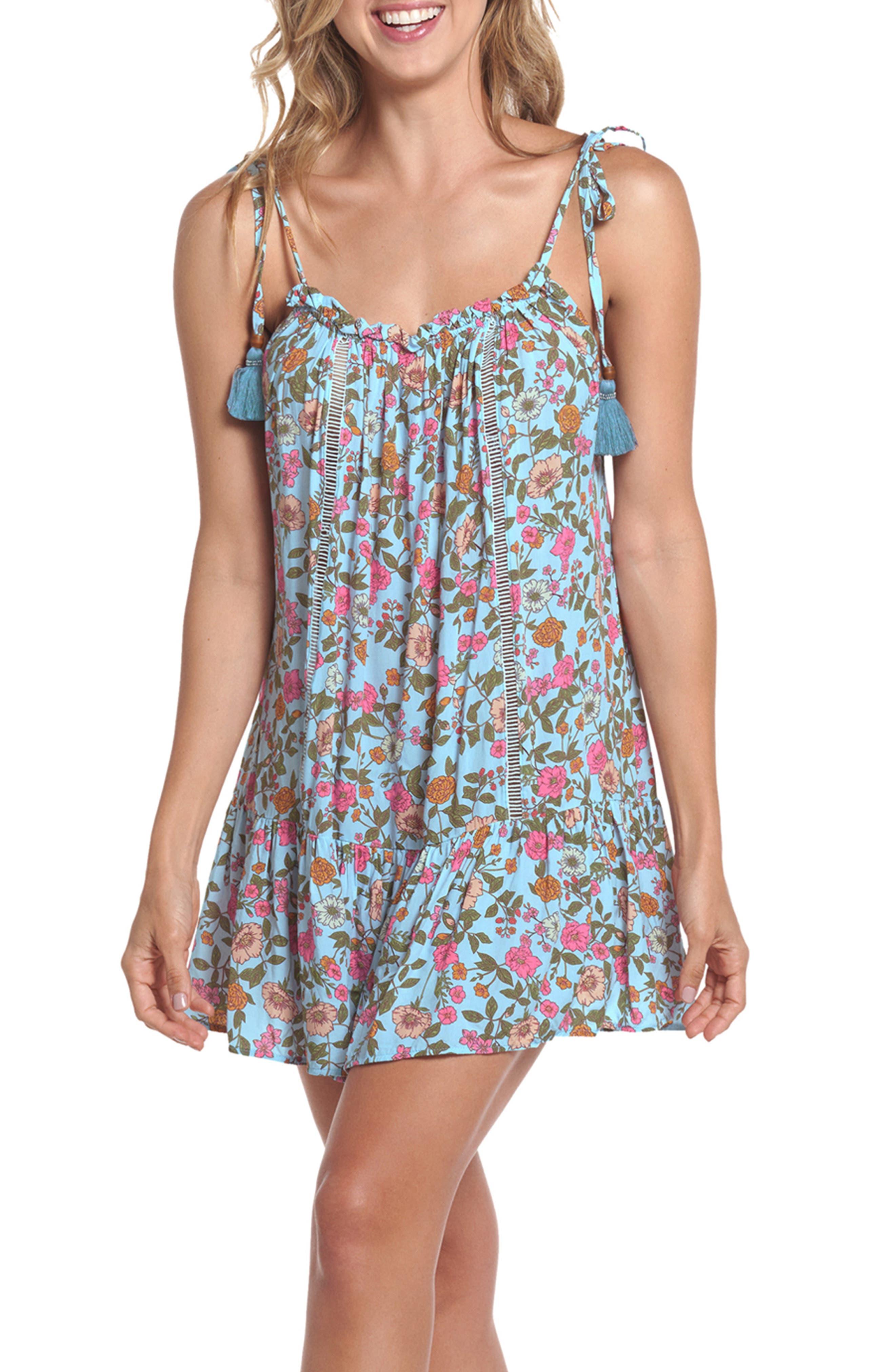Rippling Petals Magnolia Cover-Up Dress