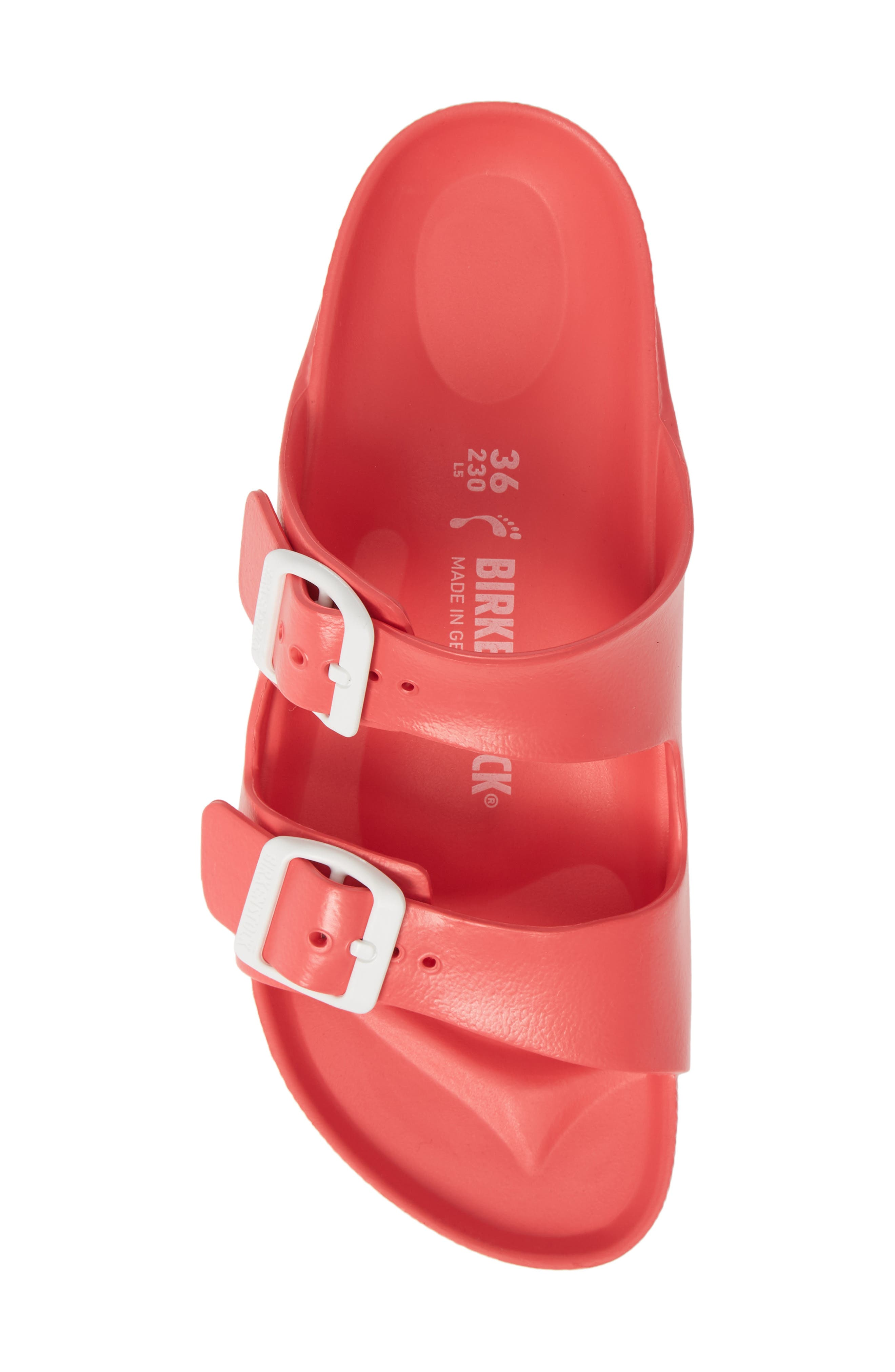 ,                             Essentials - Arizona Slide Sandal,                             Alternate thumbnail 5, color,                             CORAL EVA