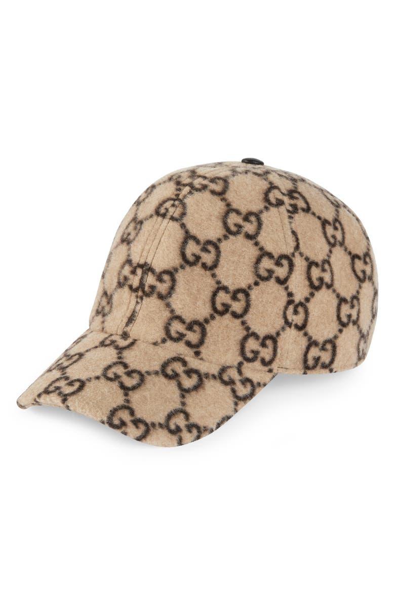 GUCCI GG Wool Blend Baseball Cap, Main, color, 250