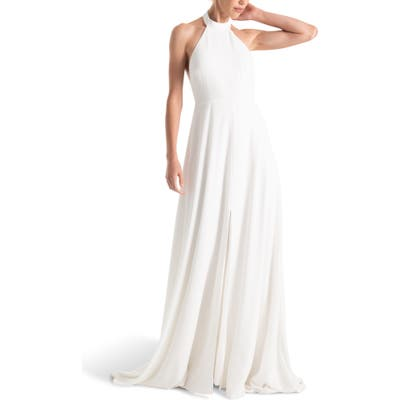 Joanna August Courtney Halter Wedding Dress, White