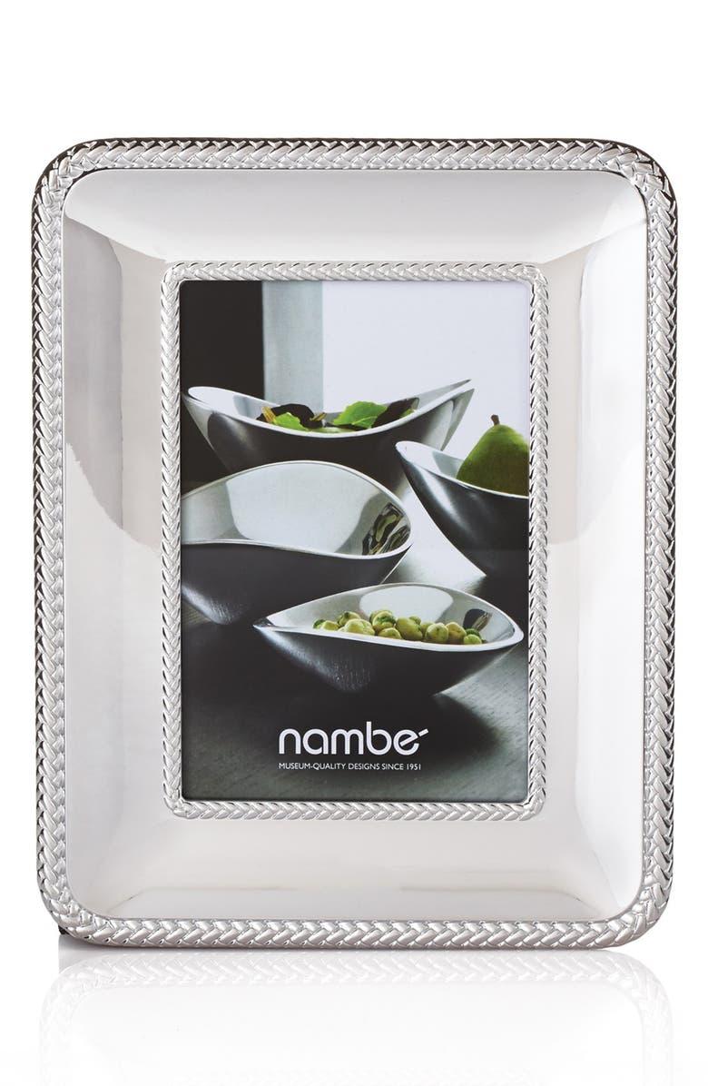 NAMBÉ Braid Chrome Picture Frame, Main, color, SILVER