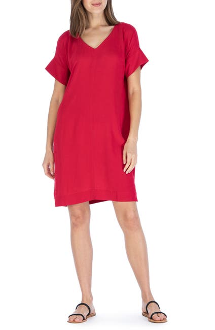Image of Bobeau V-Neck Shift Dress