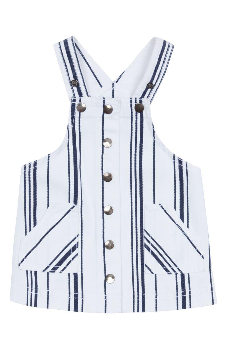 HABITUAL Joleen Stripe Pinafore Dress, Main, color, 100