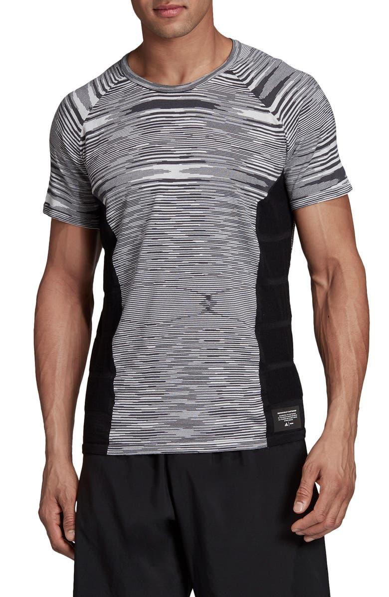 ADIDAS X MISSONI City Runners Unite Running T-Shirt, Main, color, BLACK / DARK GREY / WHITE