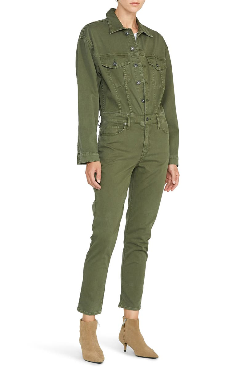 HUDSON JEANS Long Sleeve Twill Jumpsuit, Main, color, WASHED TROOP