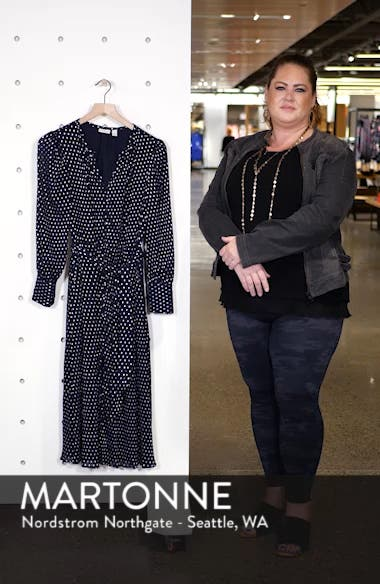Foil Dot Midi Dress, sales video thumbnail