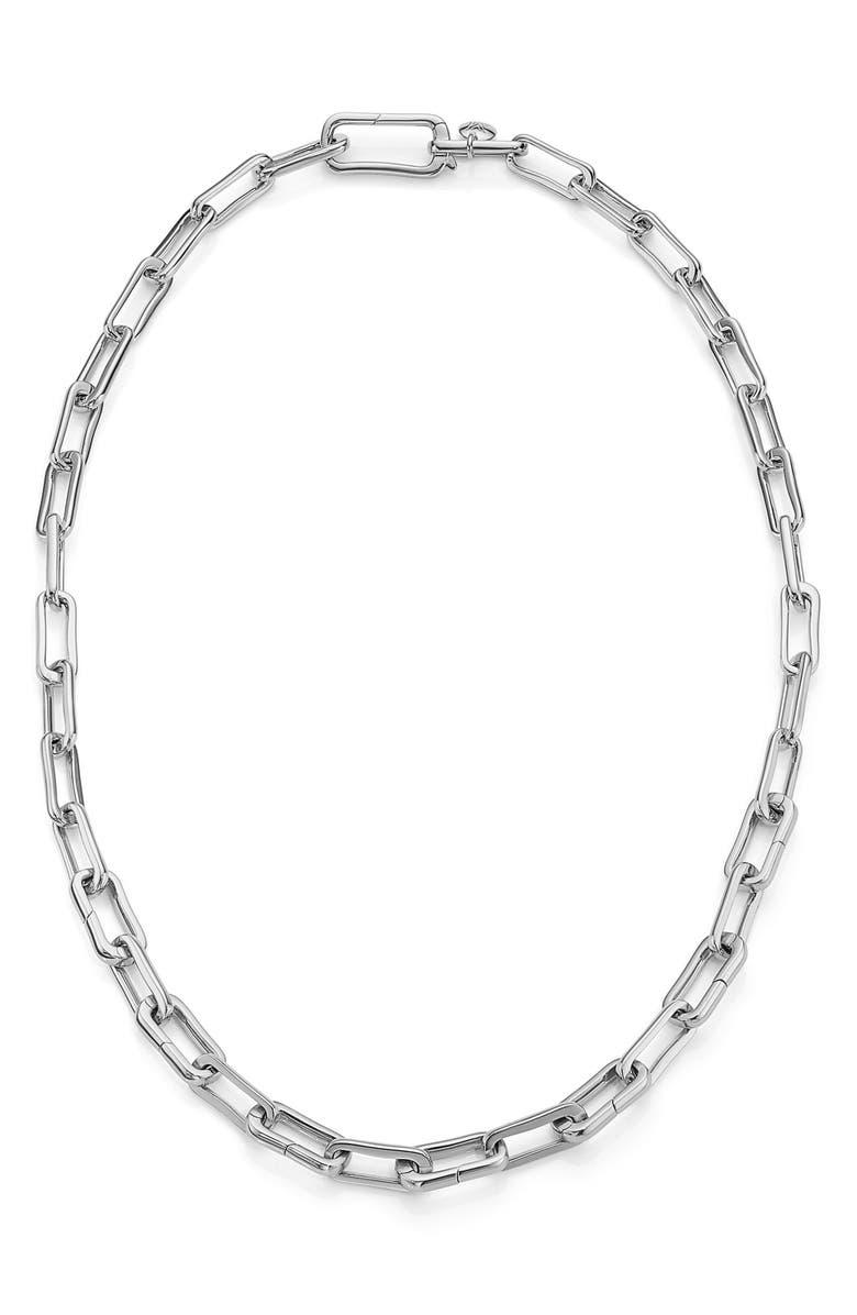 MONICA VINADER Alta Capture Necklace, Main, color, SILVER
