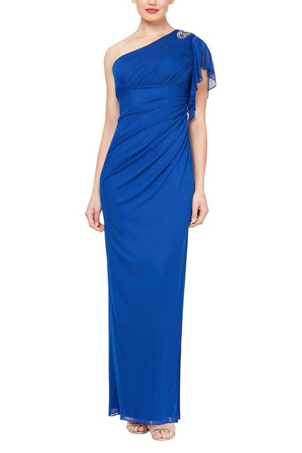 Image of Ignite One-Shoulder Embellished Gown