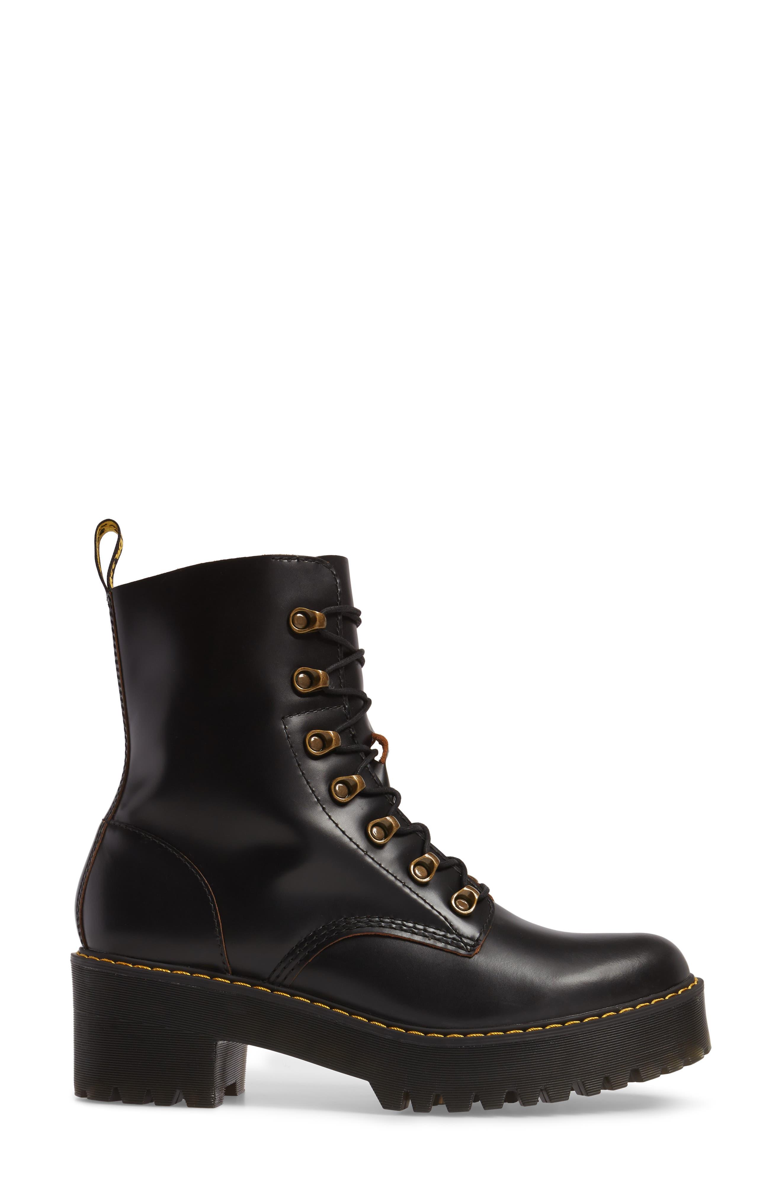 ,                             Leona Heeled Boot,                             Alternate thumbnail 3, color,                             001