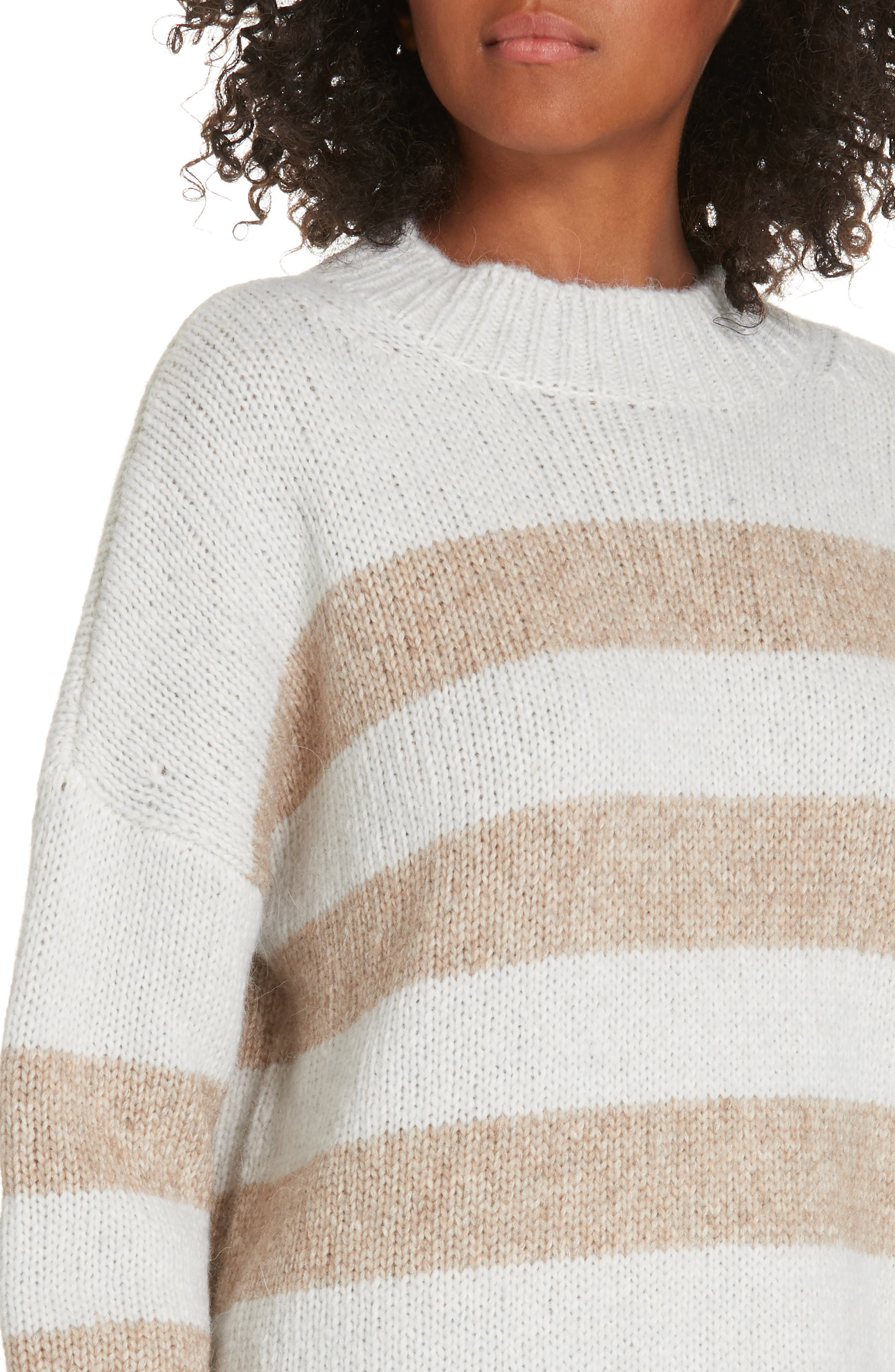 ,                             Soft Bold Marin Sweater,                             Alternate thumbnail 4, color,                             CREAM/ BEIGE
