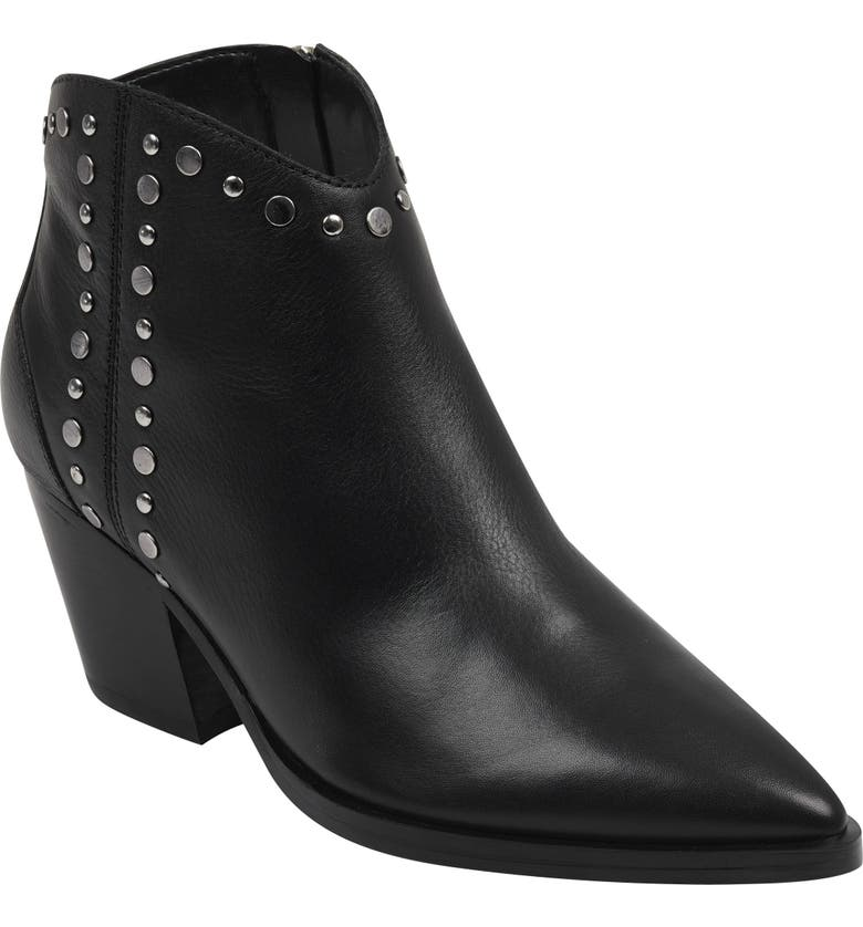MARC FISHER LTD Marc Fischer LTD Deni Studded Bootie, Main, color, BLACK LEATHER