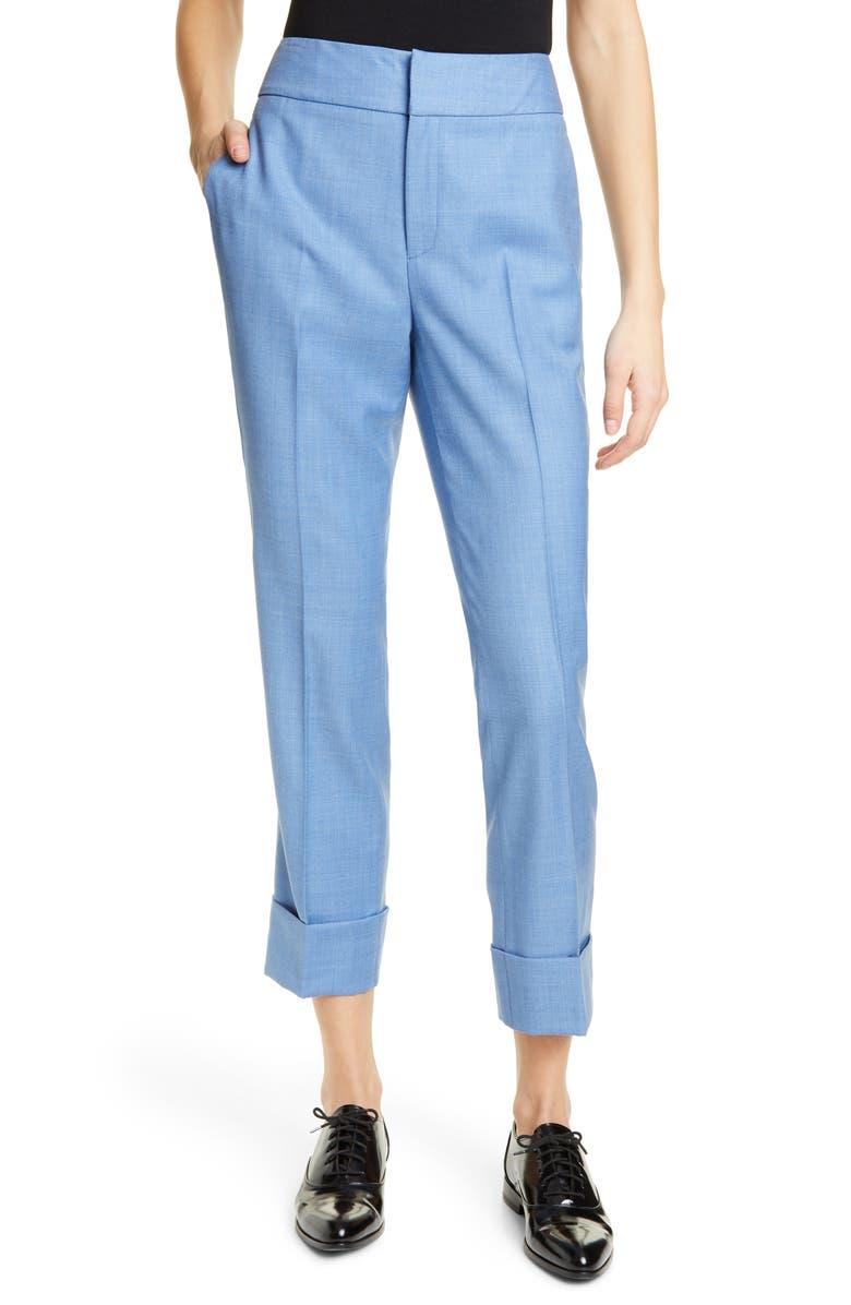 SUISTUDIO Lane Cuffed Crop Pants, Main, color, LIGHT BLUE