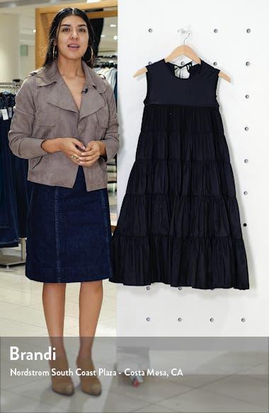Emmi Tiered Faille Midi Dress, sales video thumbnail