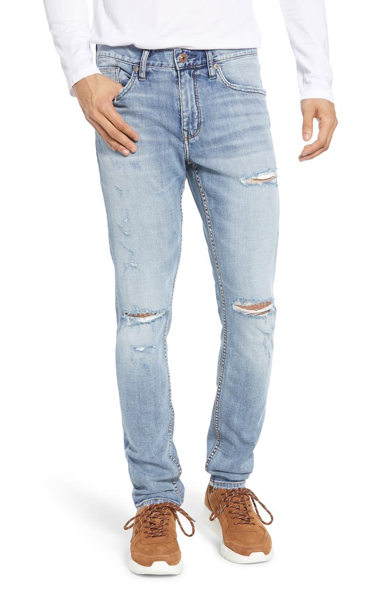 SILVER JEANS CO. Kenaston Ripped Slim Fit Jeans, Main, color, 402