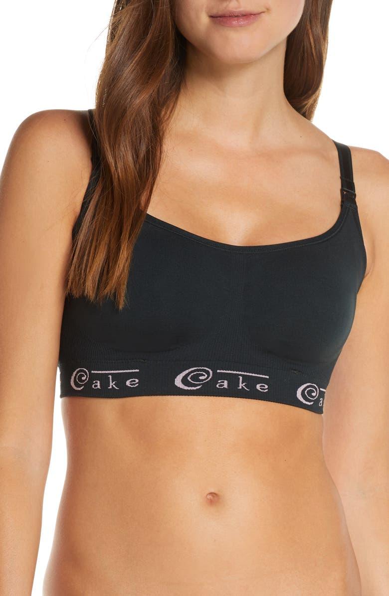 CAKE Cotton Candy Seamless Nursing Bra, Main, color, BLACK