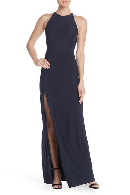 Image of Love by Design Slinky Strappy High Slit Long Dress