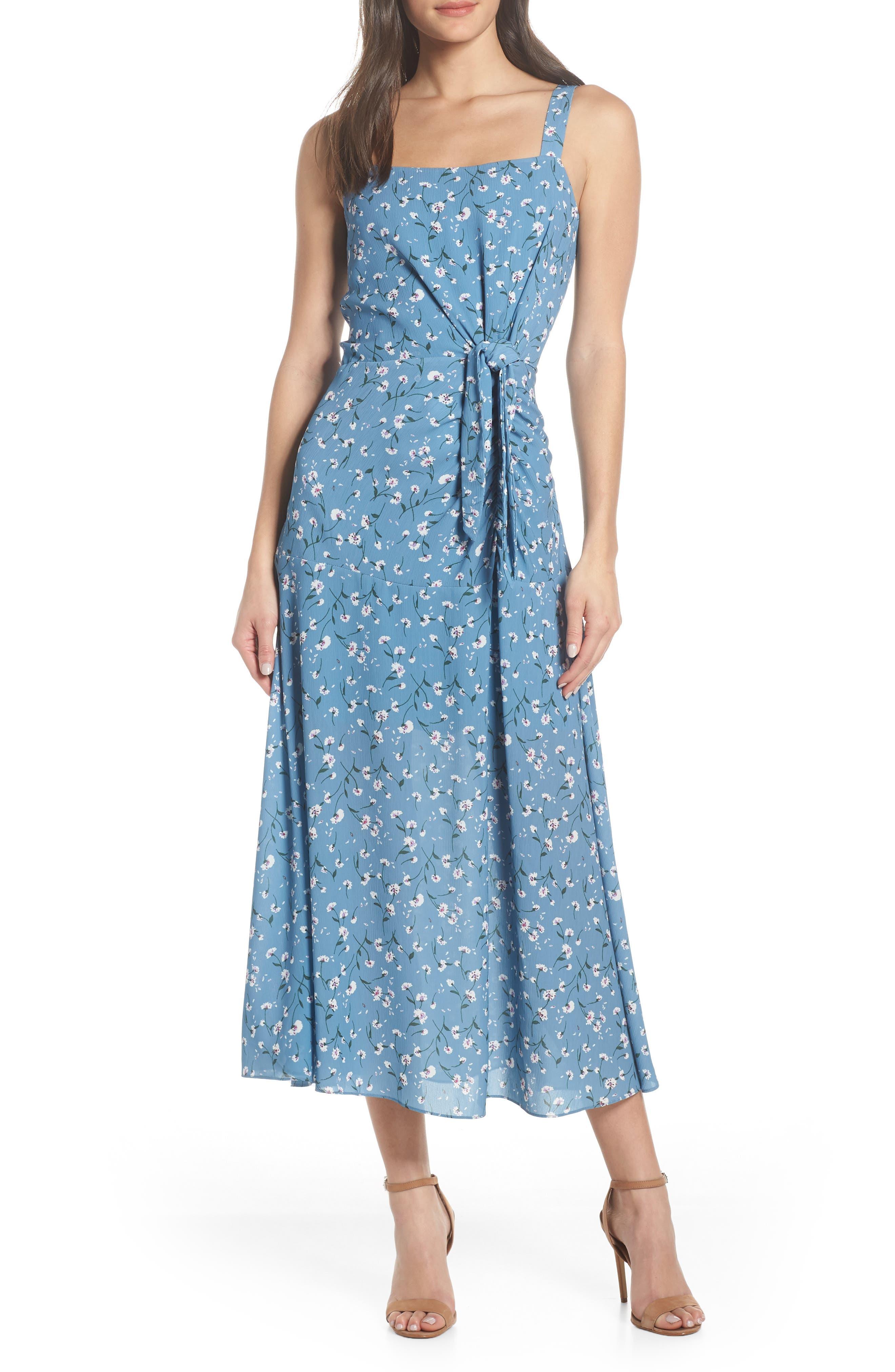 Chelsea28 Floral Print Maxi Dress, Blue