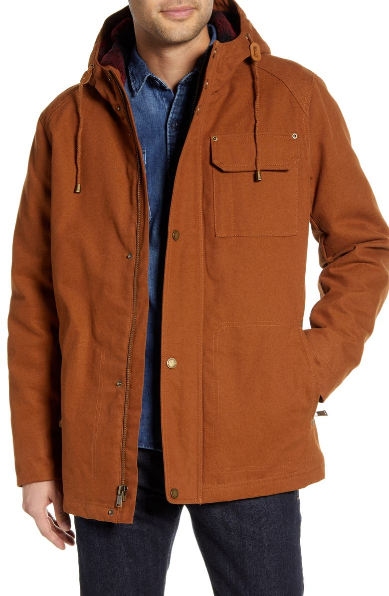 PENDLETON Brothers Canvas Jacket, Main, color, WHISKEY