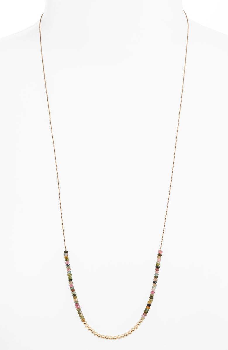 ELA RAE Yaeli Semiprecious Stone Necklace, Main, color, 650