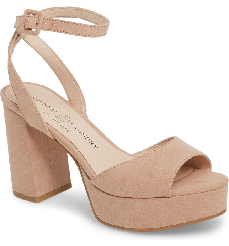 CHINESE LAUNDRY Theresa Platform Sandal, Main, color, DARK NUDE