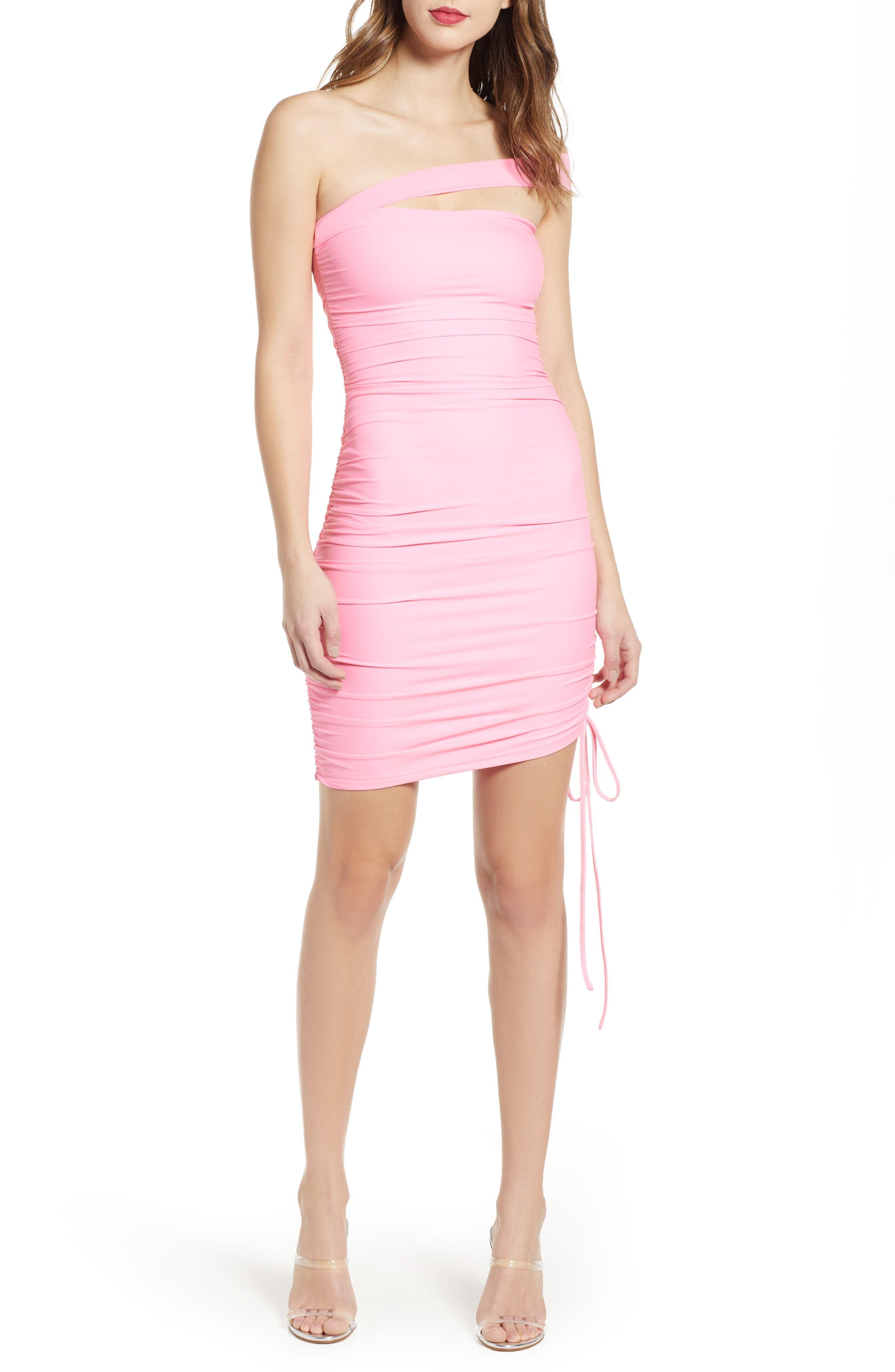 Tiger Mist Ciera Off The Shoulder Body-Con Dress, Pink