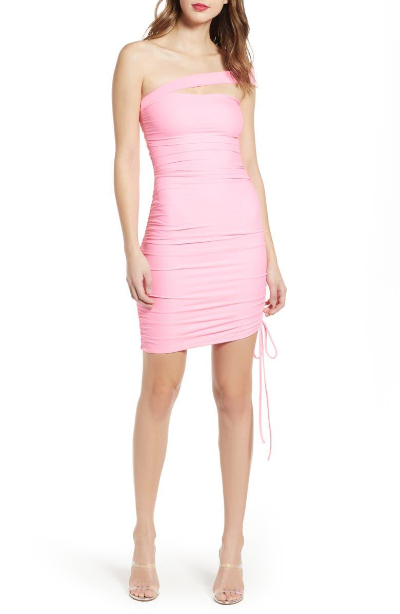 TIGER MIST Ciera Off the Shoulder Body-Con Dress, Main, color, 650