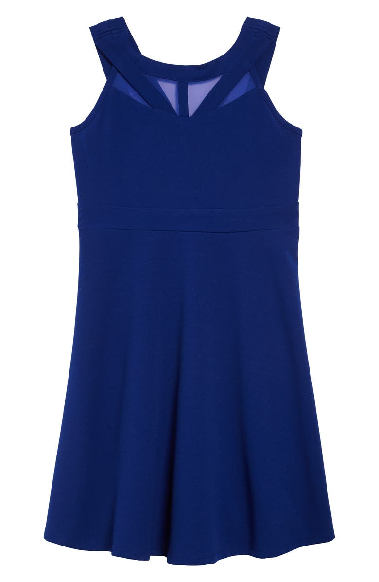 LOVE, NICKIE LEW Illusion Skater Dress, Main, color, ROYAL