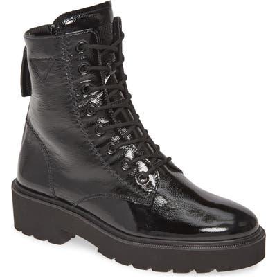 Paul Green Bronx Lace-Up Platform Boot - Black