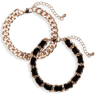 Bp. Set Of 2 Velvet & Chain Bracelets