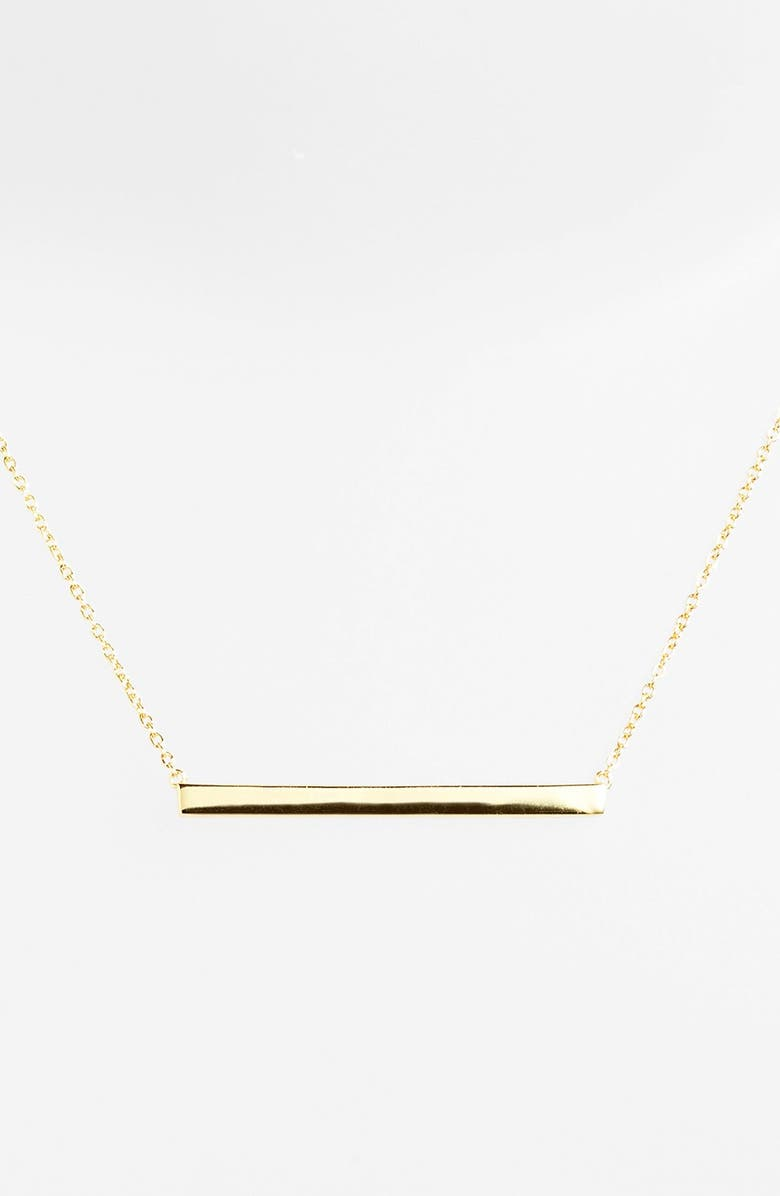 ARGENTO VIVO STERLING SILVER Argento Vivo Bar Pendant Necklace, Main, color, GOLD