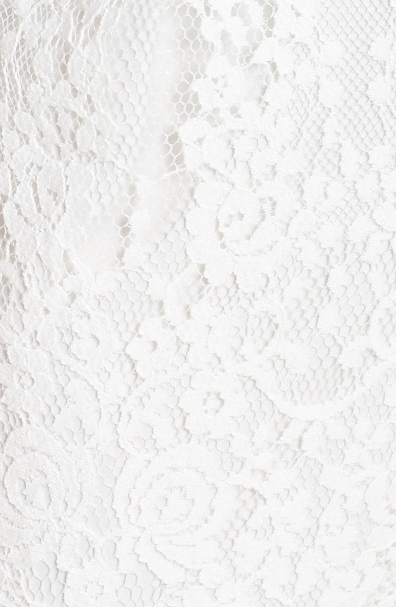 ,                             Scallop Trim Lace Jumpsuit,                             Alternate thumbnail 6, color,                             OFF WHITE