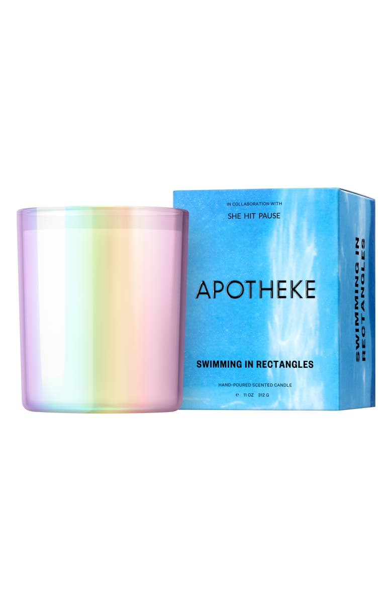APOTHEKE x She Hit Pause Scented Candle, Main, color, SWIMMING IN RECTANGLES