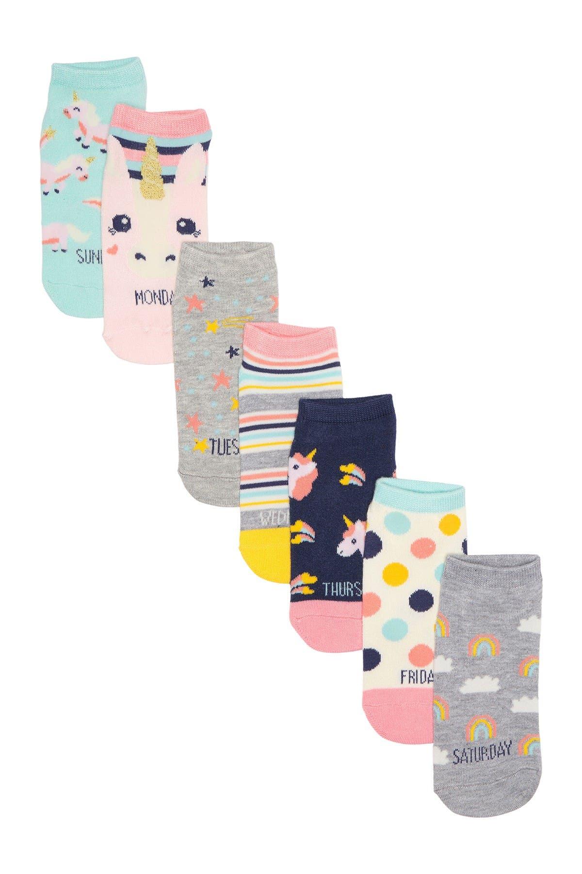 Image of Harper Canyon Unicorn Days Low Cut Socks - Pack of 7