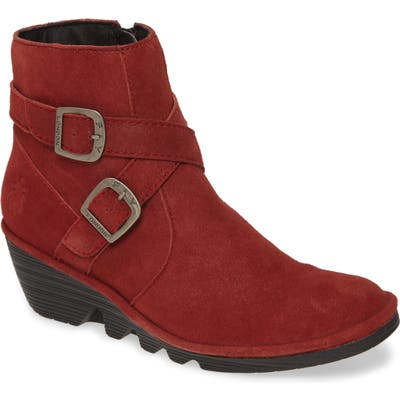 Fly London Perz Wedge Bootie, Burgundy