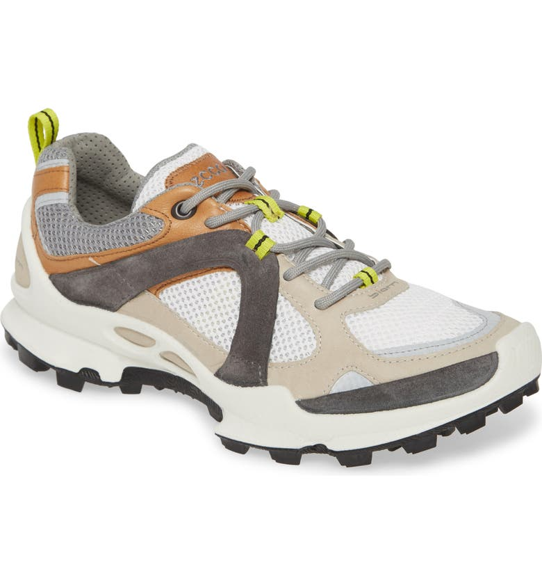 ECCO BIOM Trail Running Shoe, Main, color, GRAVEL/ VOLLUTO LEATHER