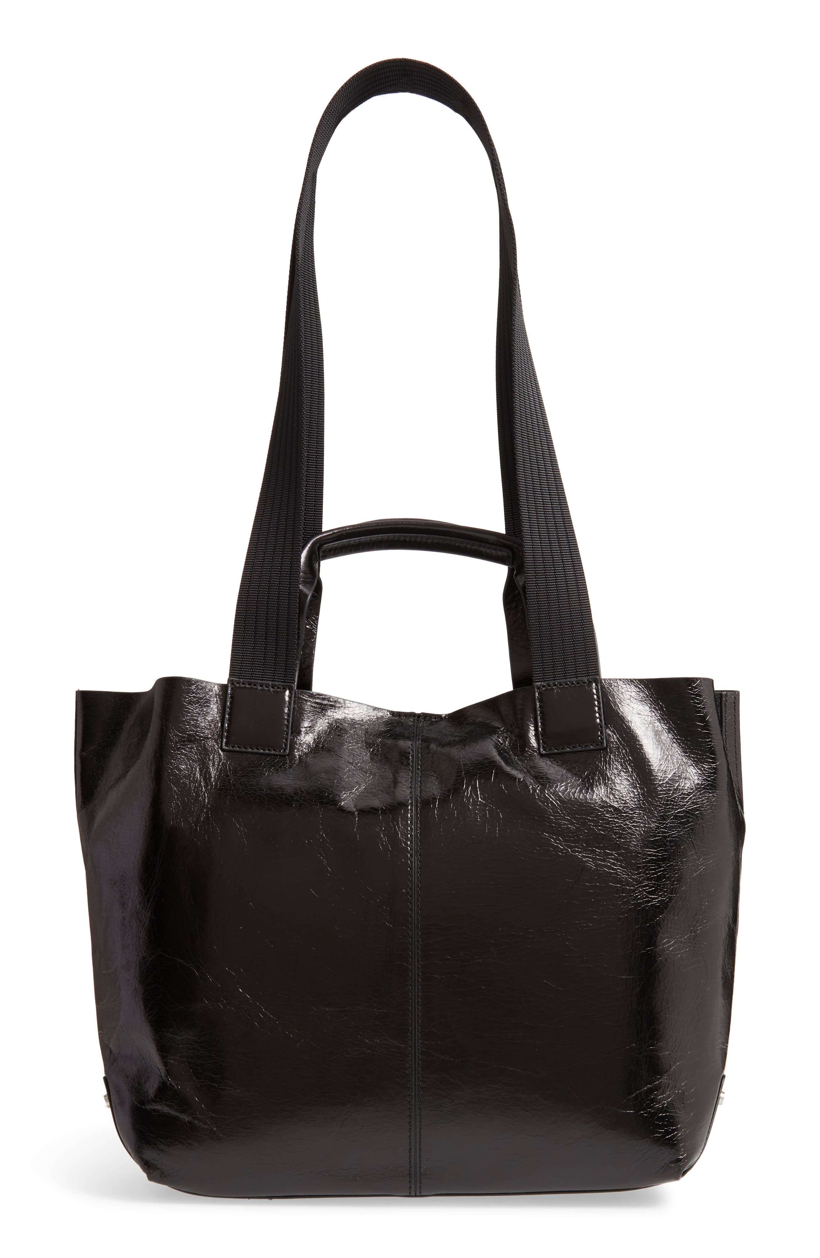 ,                             Austen Leather Tote,                             Alternate thumbnail 4, color,                             BLACK