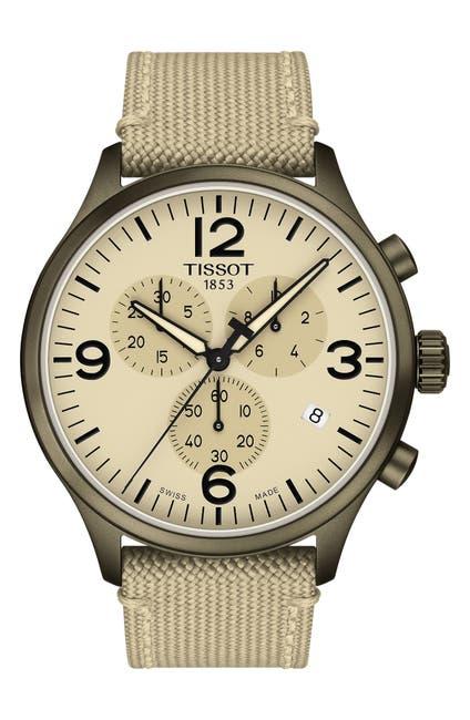 Image of Tissot Men's Chrono XL Woven Strap Watch, 45mm