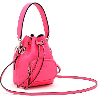 Fendi Mini Mon Tresor Leather Bucket Bag - Pink