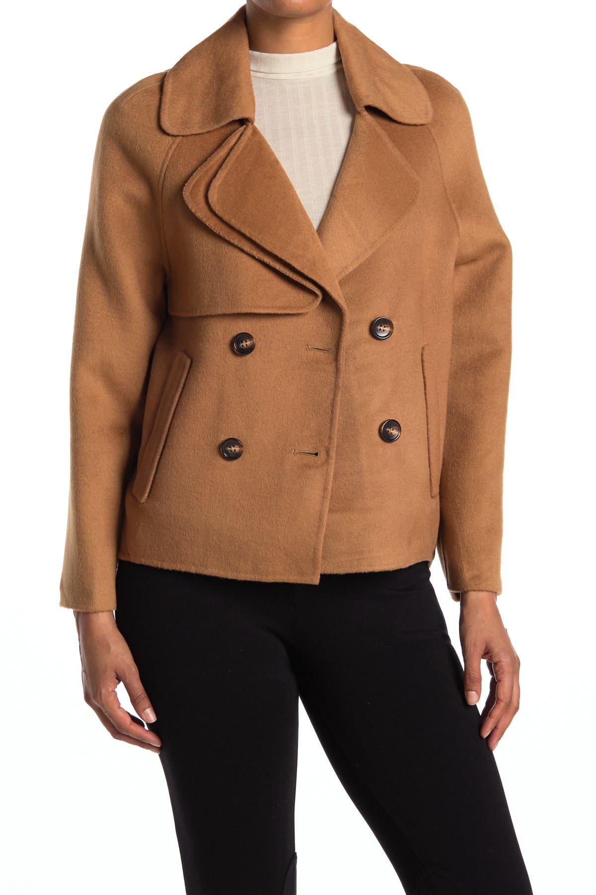 Image of Belle & Bloom I'm Yours Double Breasted Wool Blend Coat