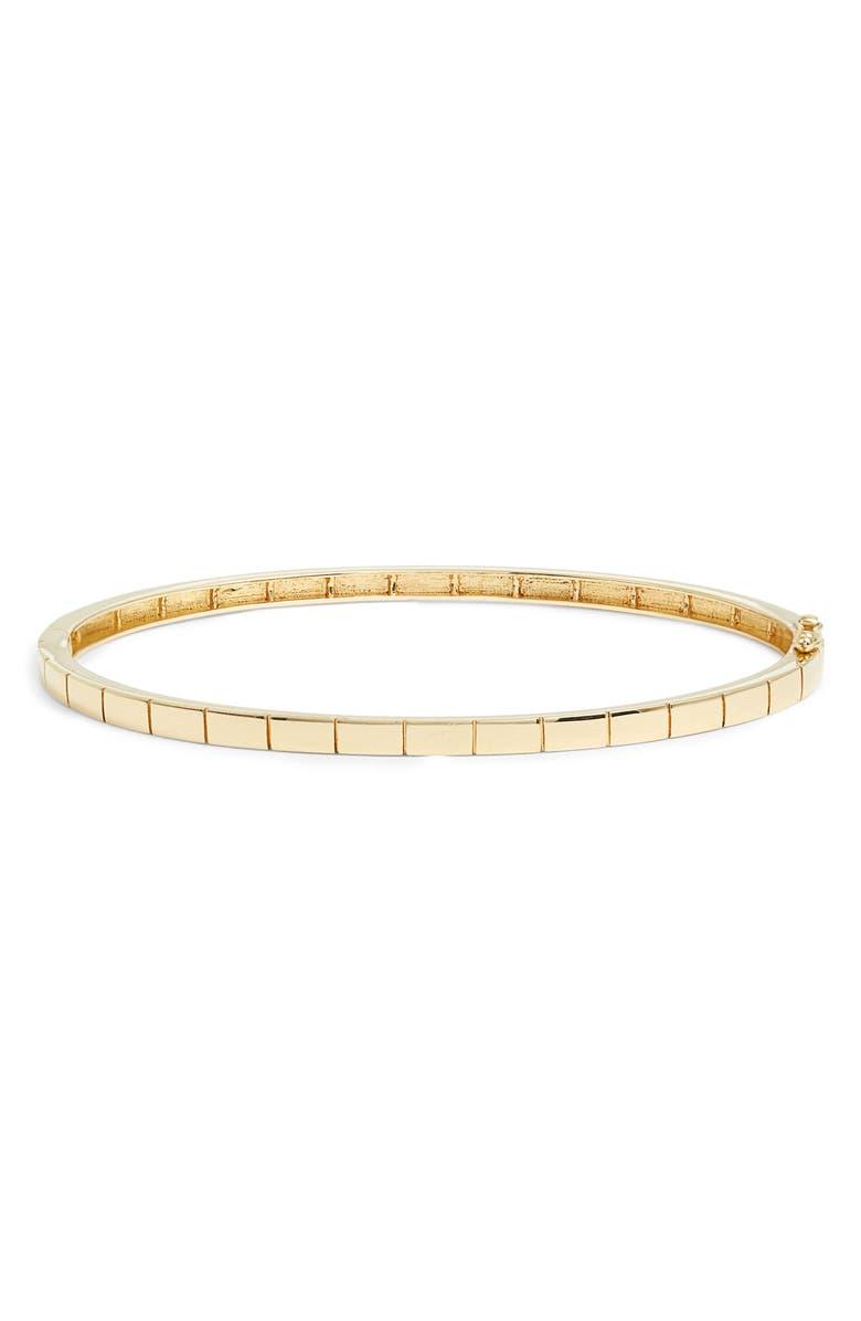 BONY LEVY Gold Bangle Bracelet, Main, color, YELLOW GOLD
