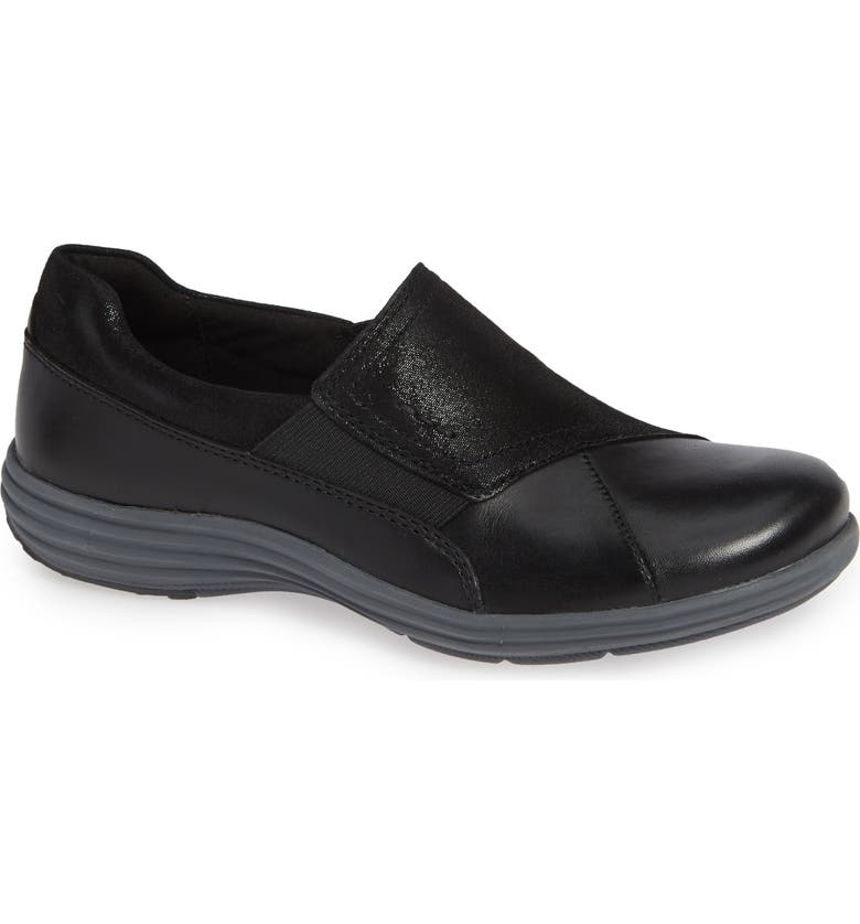 ARAVON Beaumont Sneaker, Main, color, BLACK LEATHER