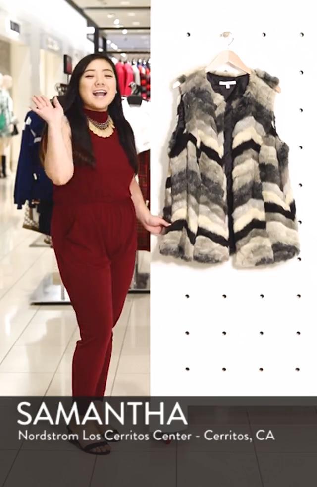 Chevron Faux Fur Vest, sales video thumbnail