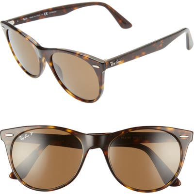 Ray-Ban Wayfarer Ii 55Mm Sunglasses - Striped Havana Solid