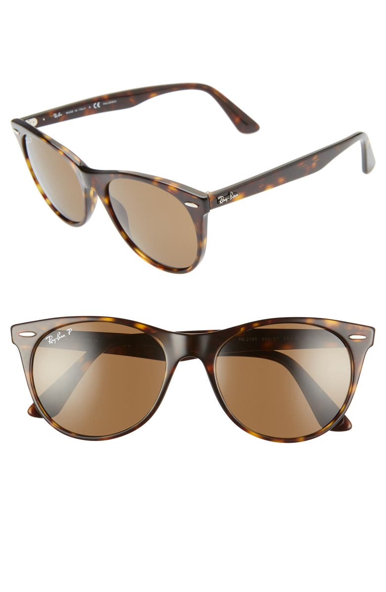 RAY-BAN Wayfarer II 55mm Sunglasses, Main, color, STRIPED HAVANA SOLID