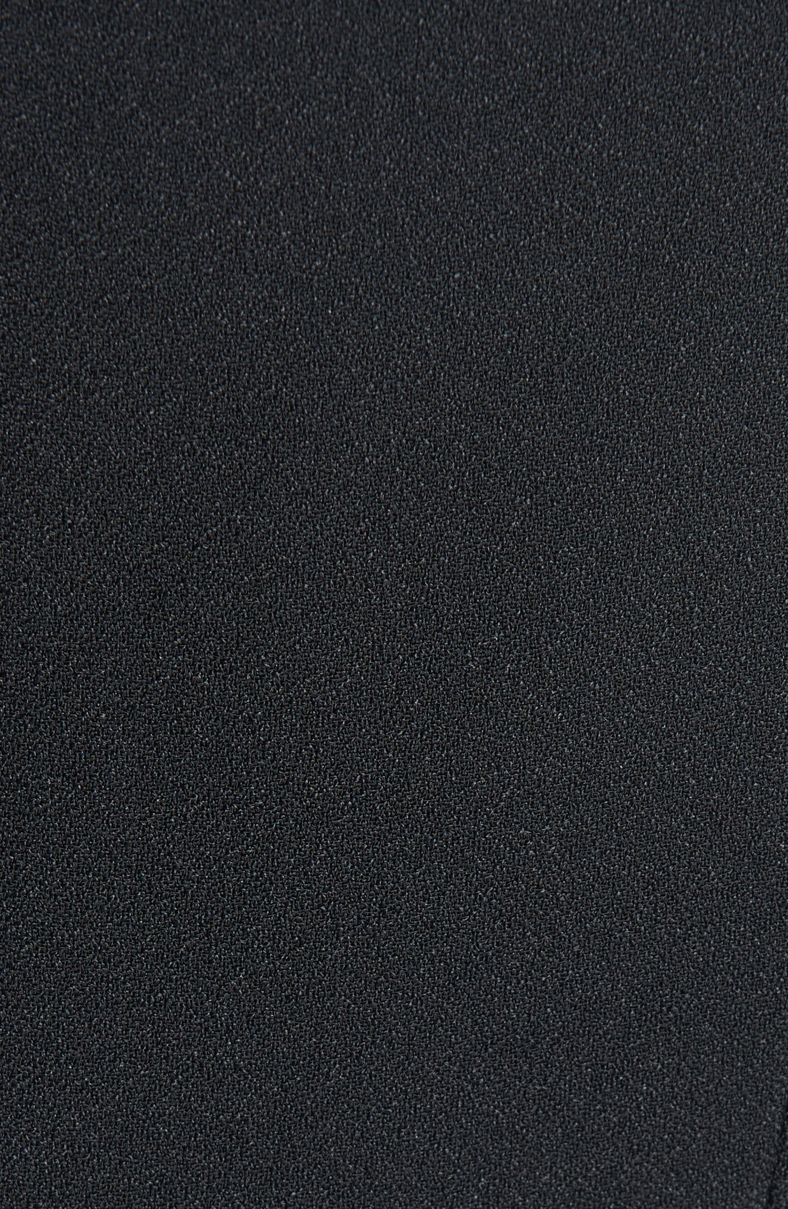 ,                             Ruffle Cuff Double Crepe Sable Tuxedo Jacket,                             Alternate thumbnail 5, color,                             BLACK