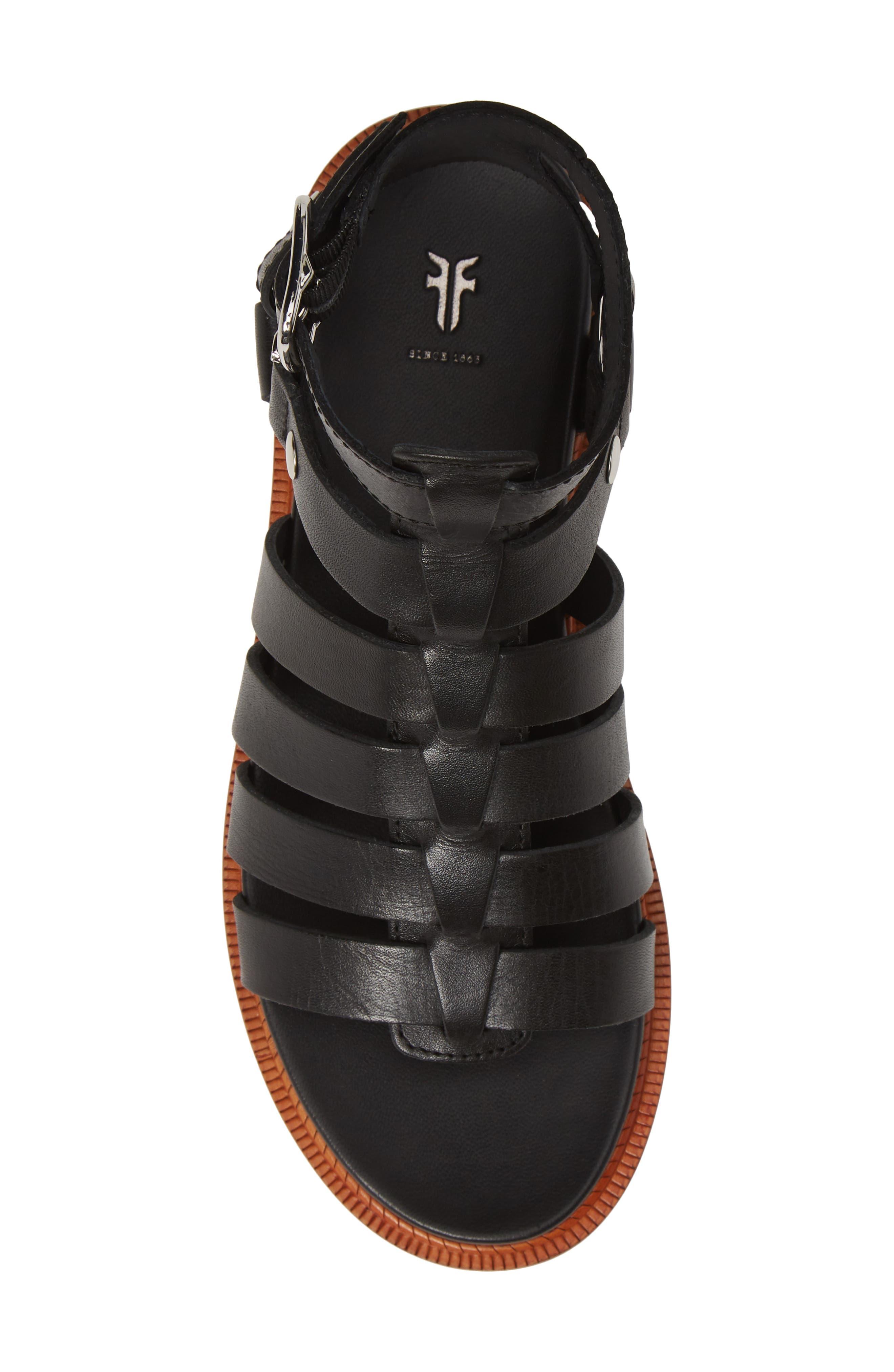 ,                             Andora Gladiator Sandal,                             Alternate thumbnail 6, color,                             BLACK