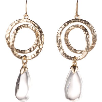 Alexis Bittar Hammered Coil Lucite Dewdrop Earrings